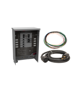 30 A Manual Transfer Switch, Learn Function, Inlet Installed, 10 ft. Cord