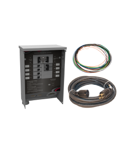 30 A Manual Transfer Switch, Learn Function, Inlet Installed, 25ft. Cord