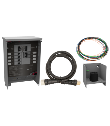 50 A Manual Transfer Switch, Learn Function, Inlet Box, 10 ft. Cord