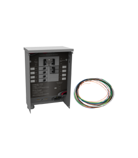 50 A Manual Transfer Switch, Learn Function, Inlet Installed