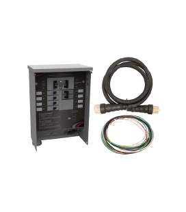 50 A Manual Transfer Switch, Learn Function, Inlet Installed, 10 ft. Cord