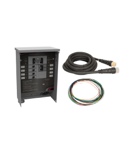 50 A Manual Transfer Switch, Learn Function, Inlet Installed, 25 ft. Cord